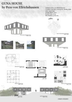 #gunahouse #PezovonEllrichshausen  Architectural Drawing - Final Project, June 2016