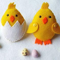Felt Easter Friends Garland Handmade Set Of 9 Decorations Bunny Chick Eggs