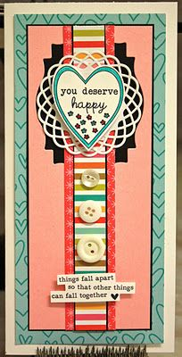 {YOU deserve HAPPY} - week 6 - unity stamp company stamp of the week - created by unity design team member christi snow