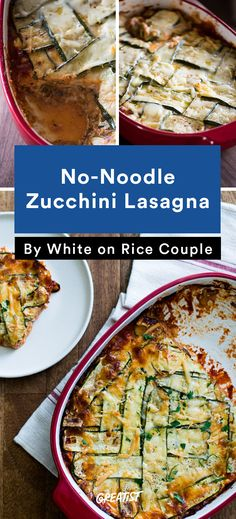 No-Noodle Zucchini Lasagna #healthy #zucchini #lowcarb #recipes ...