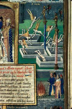 Mâcon - BM - ms. 0001, detail of f. 231. St. Augustine, La Cité de Dieu. Paris, c.1480.
