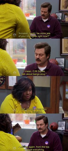 """Parks and Recreation Season Six Episode 7: Recall Vote. """"I regret everything."""""""