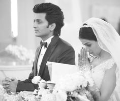 In Pictures – Genelia D'Souza and Riteish Deshmukh best pictures - Bollywood Bubble 195864 Wedding Wear, Wedding Couples, Cute Couples, Wedding Gowns, Married Couples, Bollywood Wedding, Indian Bollywood, Celebrity Couples, Celebrity Weddings
