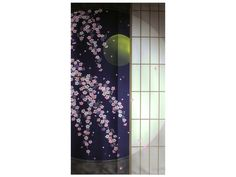 Full Length Moonlit Cherry Blossoms Noren Curtain Noren Curtains, Purple Garden, Barbie Dream House, Plates And Bowls, Cherry Blossoms, Plate Sets, Asian Art, Lava Lamp, Moonlight