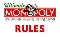 Rules for Ultimate Monopoly. They were written using material from the rules for Monopoly: The Mega Edition by Winning Moves, Super Add-Ons Monopoly by . Monopoly Cards, Monopole, Action Cards, Card Drawing, Im Trying, On Set, Card Games, Things To Think About, Deviantart