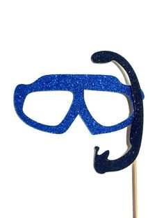 Summer Photo Booth Props - GLITTER Swim Goggle with Snorkel - Birthdays, Weddings, Parties - Fun Photobooth Props