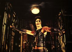 """Rocky Horror Picture Show: Best moment...when the descending elevator opens to reveal Tim Curry in his freakish Frankish glory...""""How'dya do-I"""""""