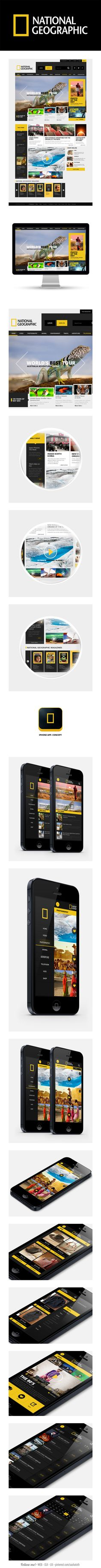National Geographic Redesign web and iphone app re-design by Enes Danış, via Behance *** #iphone #app #gui #web #nationalgeographic