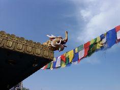 Tamang temple roof, Baudha, Kathmandu