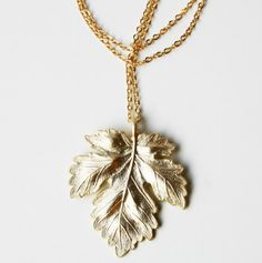 Maple Leaf Necklace. Perfect for a #vermonter