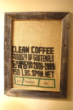 idea for that coffee bag~I have a Jamaican Coffee bag from my Honeymoon I have to try this with!