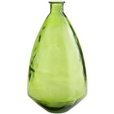 Pier 1 Imports Recycled Glass Vase - Lime Green ($35) via Polyvore
