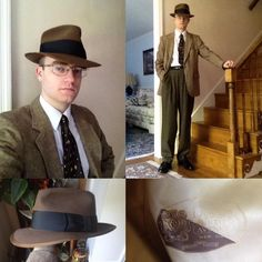Today's attire with the Dobbs fedora from the late 50's. #vintagestyle…