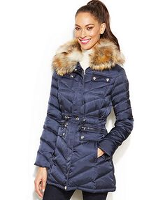 90a20481f16 At Macy s  159.99 Laundry by Shelli Segal Faux-Fur-Hooded Quilted Puffer  Coat