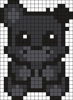 Shadow Freddy Perler Bead Pattern / Bead Sprite