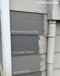 Home Exterior Painting Decisions: A Gray Area (Part V) – 2019 - House ideas Exterior Color Schemes, Grey Exterior, Exterior Paint Colors For House, Paint Colors For Home, Gray Exterior Houses, Gray Houses, Grey Siding House, Black Windows Exterior, Outside House Paint Colors