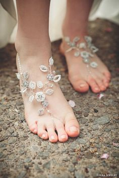 edera bridal jewelry wedding accessories theia barefoot sandals bridal footwear
