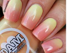 Sweet Sunset Thermal Nail Polish Orange Nail by DamNailPolish