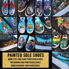 custom painted shoes #disney #disneyworld #disneyland #vans #toms #paintedshoes