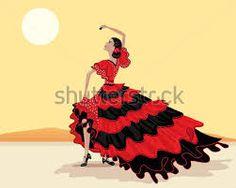dibujos de bailaoras flamencas - Buscar con Google