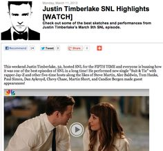 Justin Timberlake SNL Highlights [WATCH]