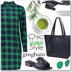 Gingham Dress :: Work Wear by jecakns on Polyvore featuring Mode