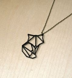 """origami animal fox pendant necklace by ( q u i e t l y c r e a t i v e ) 