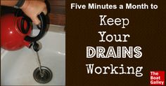 Spend just 5 minutes a month on preventive maintenance and avoid clogged drains!