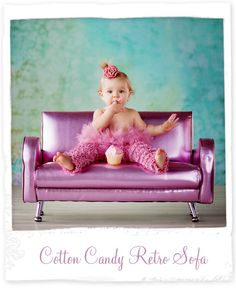 Almost sold out - Blow out on the Cotton Candy Retro Sofa