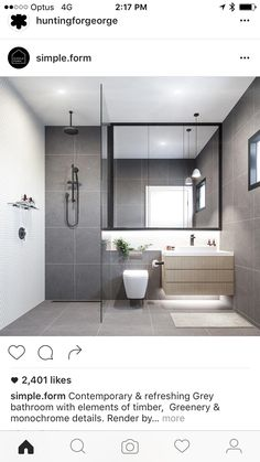 The bathroom is one of the most used rooms in your house. If your bathroom is drab, dingy, and outdated then it may be time for a remodel. Remodeling a bathroom can be an expensive propositi… Bathroom Toilets, Bathroom Renos, Grey Bathrooms, Laundry In Bathroom, Bathroom Layout, Beautiful Bathrooms, Bathroom Interior Design, Bathroom Renovations, Bathroom Storage