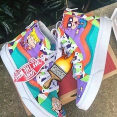 Would you cop these Vans by ⠀ ⠀ ⠀ ⠀ ⠀ ⠀ ⠀ ⠀ ⠀ ⠀ ⠀ ⠀ Make sure to click the link in our bio to shop all of the hottest custom products! From custom accessories to sneakers, we have it all! Dr Shoes, Hype Shoes, Crazy Shoes, Vans Shoes, Me Too Shoes, Shoes Sneakers, Sneakers Mode, Custom Sneakers, Custom Shoes