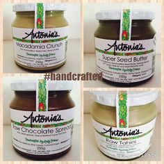 #handcrafted #eatwelldogood  @antoniadeluca  #simplythebest #vegan #antonias #antoniasfoodblog Green Cafe, Chocolate Spread, Seed Butter, Cafe Shop, Wholesale Products, Superfoods, Eating Well, Dairy Free