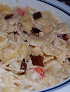 Garlic Chicken Pasta - this is our favorite go-to dinner!