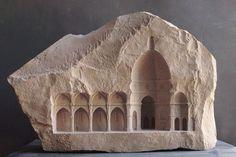 Elevation V: Santa Maria del Fiore, Firenze. Matthew Simmonds, 2010. Limestone, 60 X 13 X 37cm.