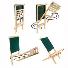 Fun and Creative DIY Furniture Ideas – Voyage Afield Used Outdoor Furniture, Outdoor Furniture Chairs, Backyard Furniture, Wooden Folding Chairs, Folding Furniture, Diy Furniture, Antique Furniture, Wrought Iron Patio Chairs, Farmhouse Dining Chairs
