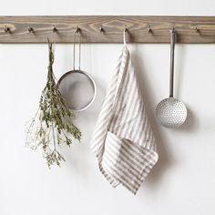 Linen Towels, Dish Towels, Tea Towels, Kitchen Linens, Kitchen Towels, Rustic Stone, Striped Linen, Linen Bedding, Bed Linen