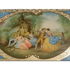 Stunning Antique Romantic Tin, Lithograph Courtship Tin Jewelry Box... ($70) ❤ liked on Polyvore featuring home, home decor, jewelry storage, jewelry container, tin container, jewellery box, jewelry-box and jewelry chest