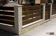 Front Wall Design, House Fence Design, Fence Gate Design, Modern Fence Design, Patio Design, Brick Fence, Concrete Fence, Front Yard Fence, Dover House