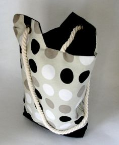 Polka Dot Tote by all2wonderful on Etsy, $25.00