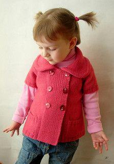 Phildar girl knit cardigan pattern