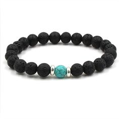 """1 PC Anger Control Bracelet is a best way to create positiveatmosphere surrounding FREE Shipping Material: 12mm Black Obsdian,Tiger Eye and Earth Sign Stretch bracelet with high-quality elastic string; For 7"""" size wrist Elegant Earth sign bracelet will keep balance in your day to day activity and try to keep your self"""
