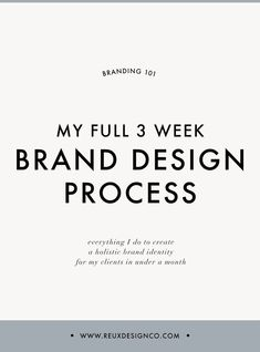My Full 3 Week Brand Design Process / How I Design a Conscious Brand in 3 Weeks   Reux Design Co.
