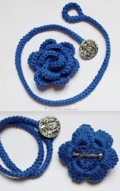 Tuto - Bracelet fleur au crochet   Tricot et crochet
