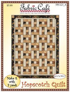 Hopscotch Downloadable 3 Yard Quilt Pattern