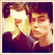 """Max Schneider and Noah Crawford On The Set Of Nickelodeon's """"How To Rock"""""""