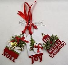 Impression Obsession CHRISTMAS TAGS Die Set Steel DIE223-Z