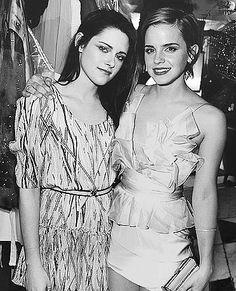 kristen Stewart and Emma Watson (2012)