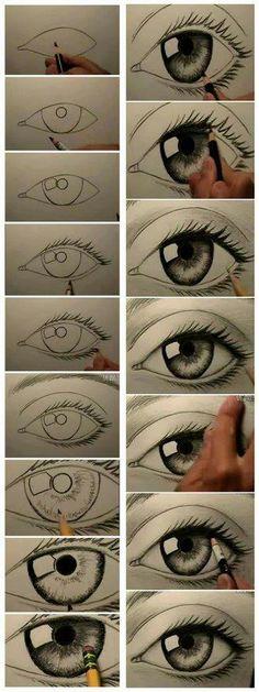 arte ojo a lapiz