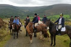 Horse Trekking in the Slieve Mountains of central Ireland