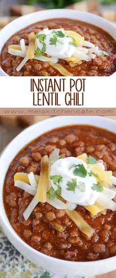 Healthy and hearty, this simple lentil chili, filled with smoky, spicy, delicious flavor, is made even easier thanks to the Instant Pot! And because I love ya, I've included stovetop and slow cooker instructions, too.